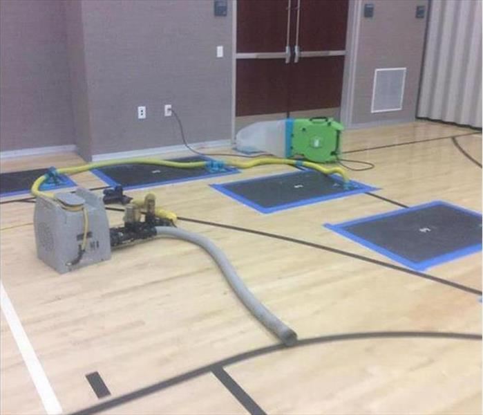 Faribault Water Loss to a Gym Floor